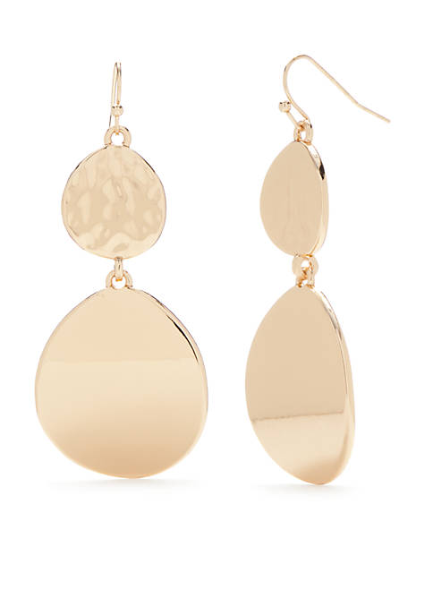 New Directions® Gold-Tone Two Drop Earrings