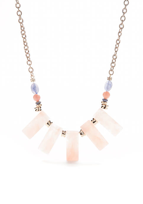 New Directions® Gold-Tone Resin Frontal Statement Necklace