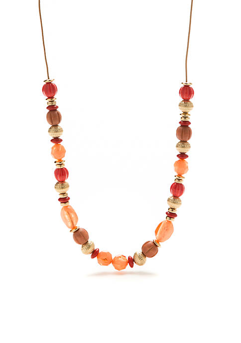 New Directions® Gold-Tone Coral Coast Single Strand Beaded
