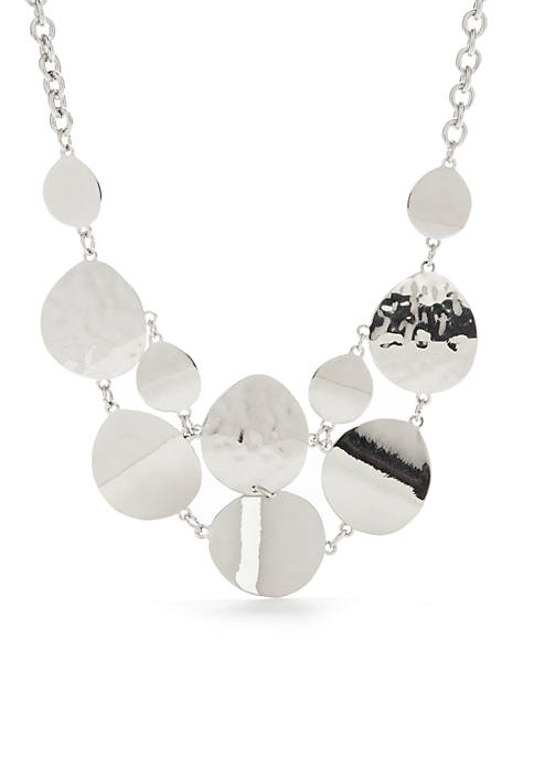 New Directions® Core Silver Statement Necklace