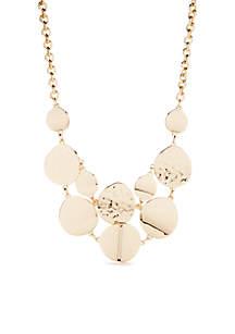 Gold-Tone Metal Short Single Necklace