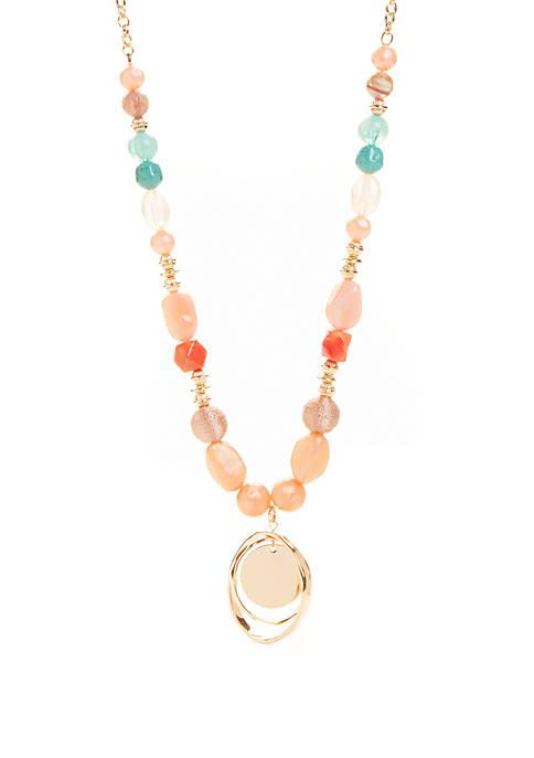 Open Circle Pendant Necklace