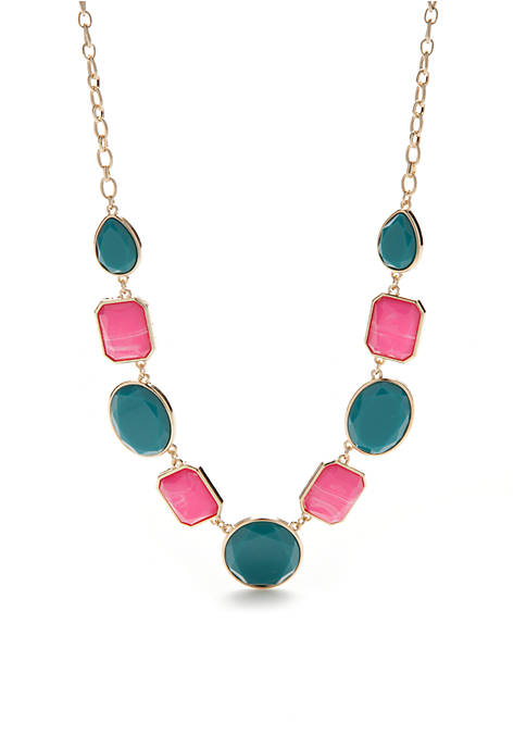 Gold-Tone Summer Brights Collar Necklace