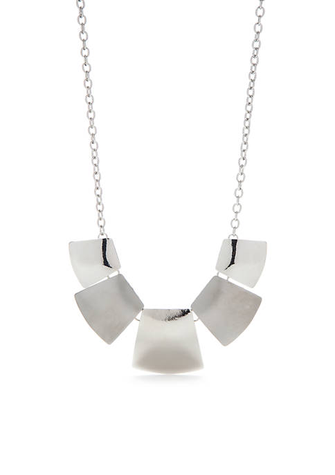Silver-Tone Statement Necklace