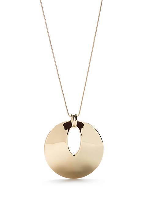 Gold-Tone Pendant Necklace