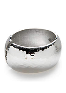 Silver-Tone Metal Hammer Bracelet