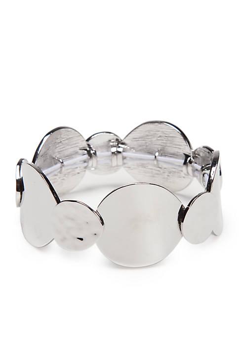 New Directions® Silver-Tone Stretch Bracelet