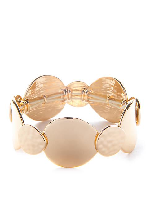 Gold-Tone Metal Stretch Bracelet