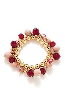 Gold-Tone Stretch Bracelet