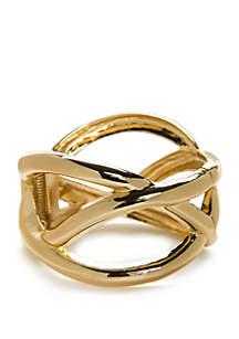 Gold-Tone Hinge Bracelet
