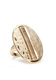 Gold-Tone Metal Ring