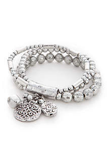 Silver-Tone Dream Weaver Bracelet Set