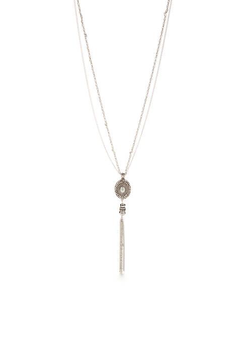 Silver-Tone Fine Wine Multistrand Necklace