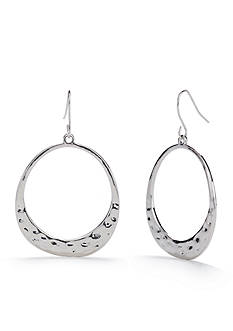 Ruby Rd Silver-Tone Good Jeans Open Hoop Earrings