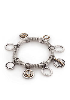 Ruby Rd Two-Tone Chain Reactive Stretch Bracelet