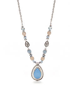 Ruby Rd Silver-Tone Blue Traveler Pendant Necklace