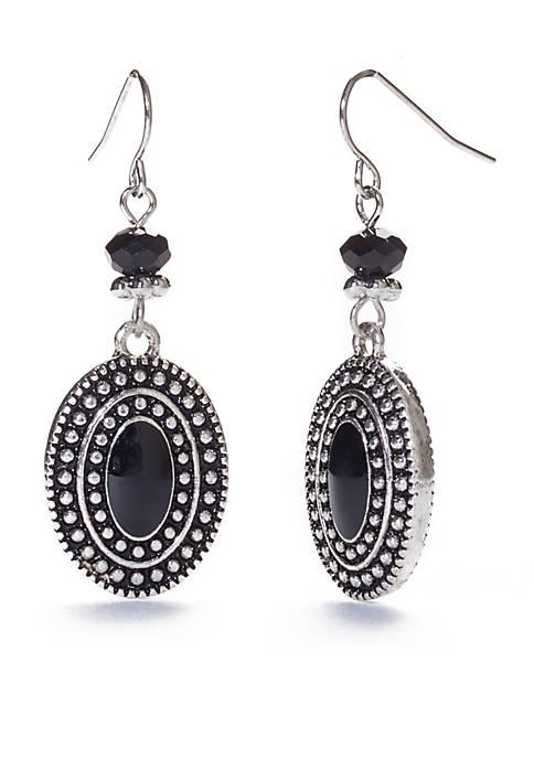 Ruby Rd Oval Drop Earrings