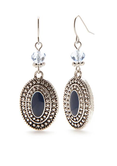 Ruby Rd Silver-Tone Paizley Park Drop Earrings