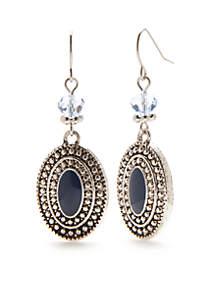 Silver-Tone Paizley Park Drop Earrings