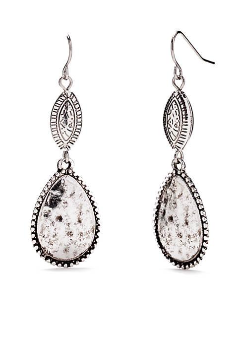 Ruby Rd Silver-Tone Double Drop Earrings