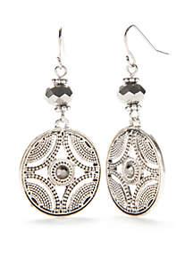 Silver-Tone Silver Screen Drop Earrings