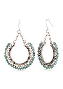 Je Taime Turquoise Woven Gypsy Earrings
