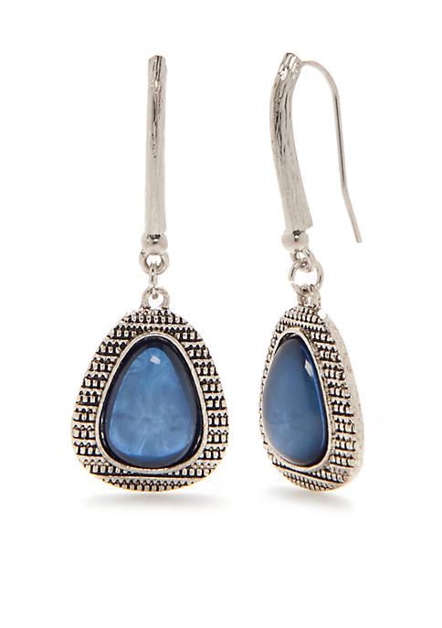 Ruby Rd Silver-Tone Teardrop Earrings