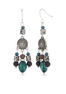 Silver-Tone Small Chandelier Earrings