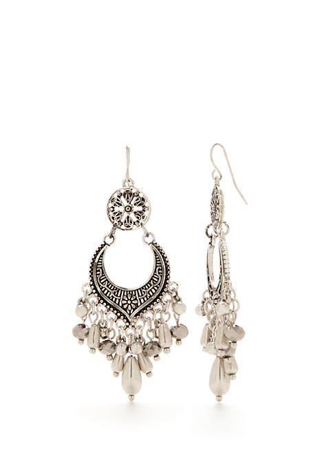 Ruby Rd Silver-Tone Chandelier Drop Earrings