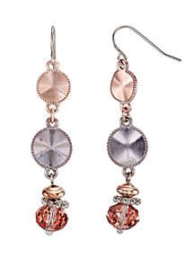 2-Tone Triple Drop Earrings