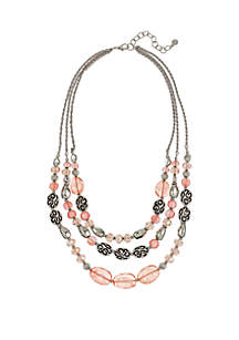 Mix Bead 3-Row Necklace