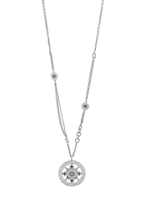 Round Filigree Pendant Necklace