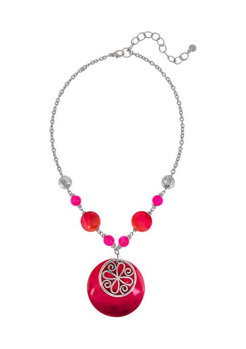 Shell Pendant Lanyard Necklace
