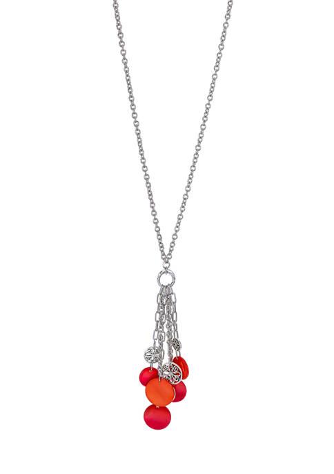 Fringe Tassel Long Shell Necklace