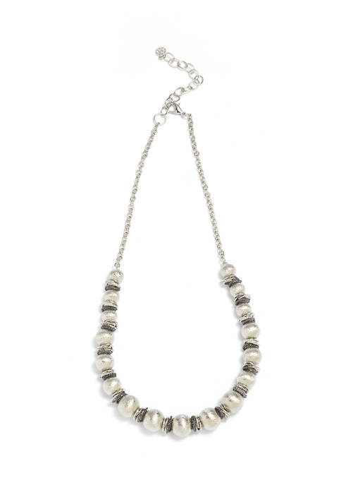 Silver-Tone Scrunch Necklace