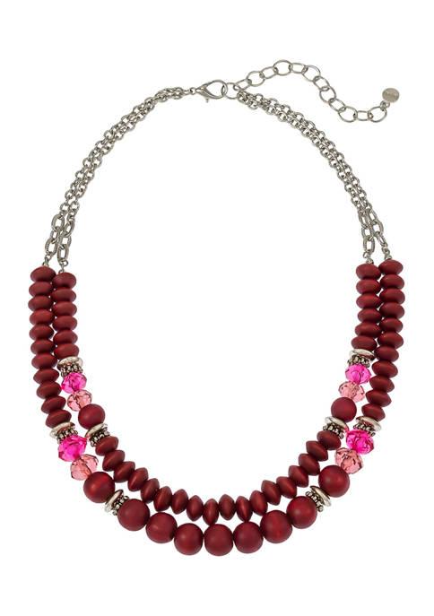 Beaded 2 Row Necklace