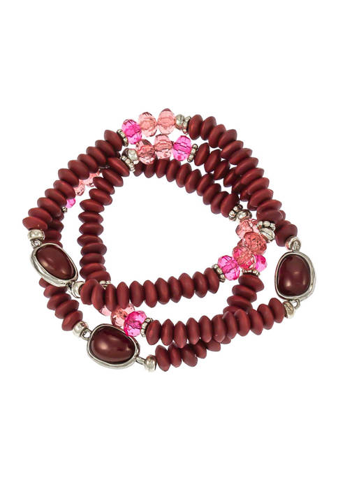 Beaded 3 Row Stretch Bracelet