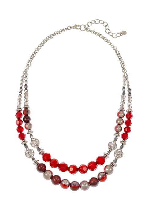 2 Row Beaded Necklace