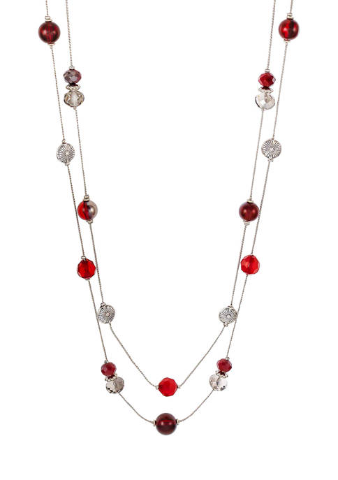 Long 2 Row Illusion Necklace