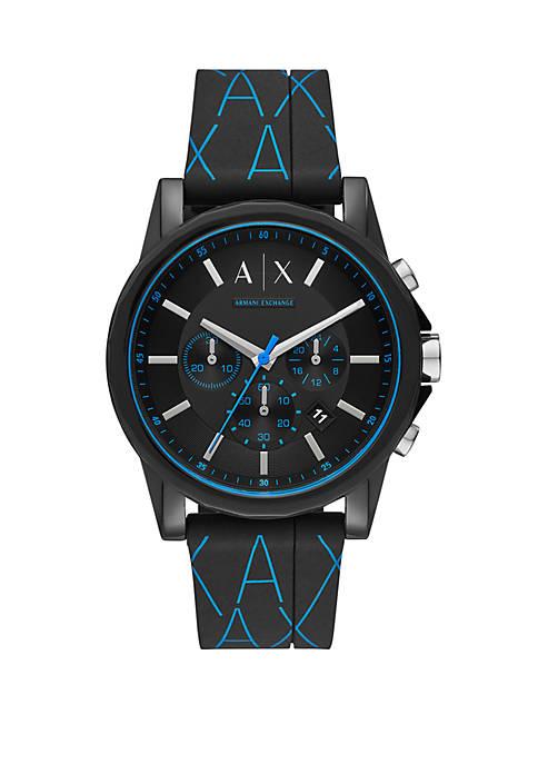 Armani Exchange AX AIX Mens Chronograph Black Silicone