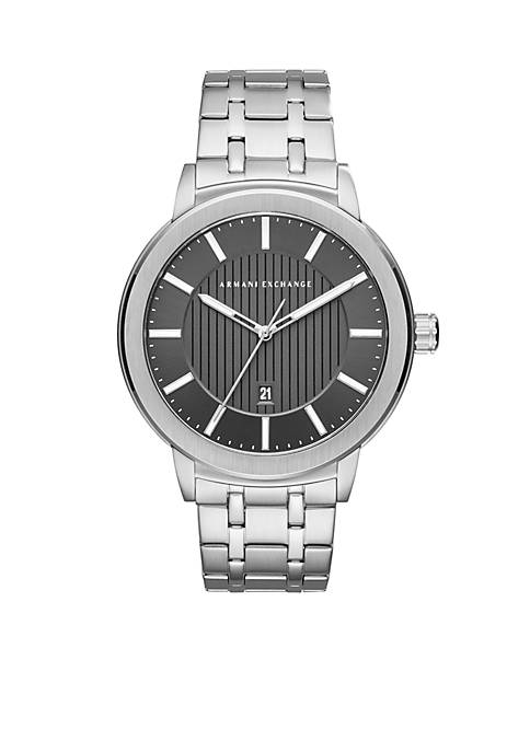 Armani Exchange AX Mens Stainless Steel Street Three