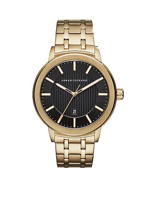 Armani Exchange AX Mens Gold-Tone Street Watch