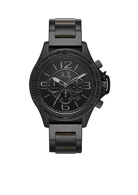 Armani Exchange AX Mens Street Black IP Stainless