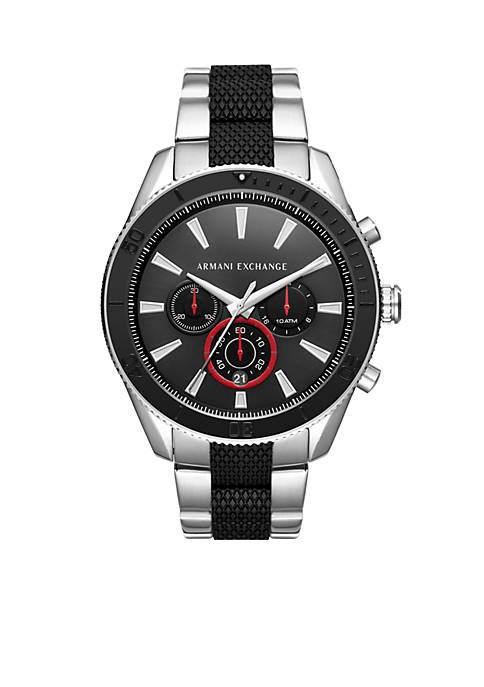 Armani Exchange AX Mens Stainless Steel Chronograph Dial