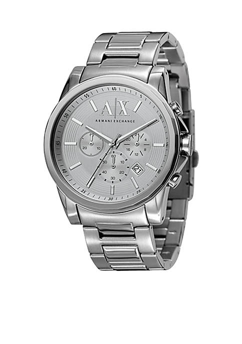 Armani Exchange AX Mens Active Chronograph Stainless Steel