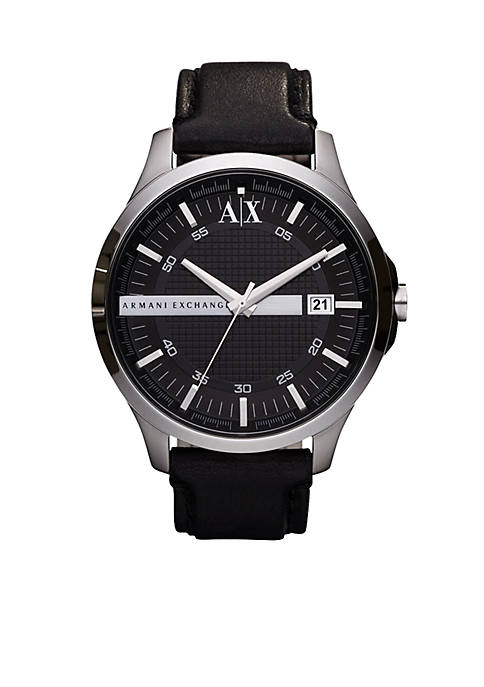 Armani Exchange AX Mens Round Stainless Steel with