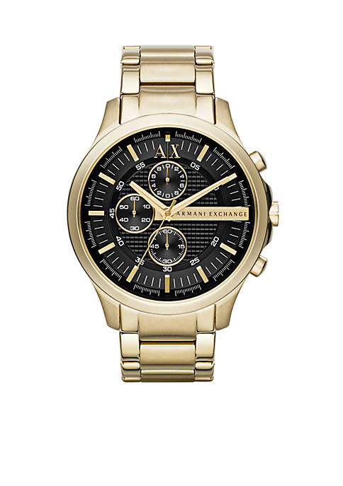 Armani Exchange AX Mens Gold-Tone Stainless Steel with