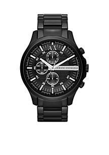 Men's Black IP Stainless Steel Chronograph Watch