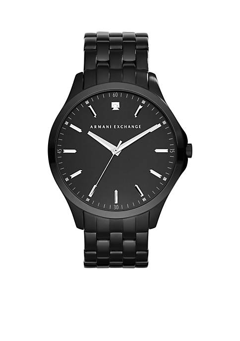 Armani Exchange AX Mens Black Stainless Steel Three