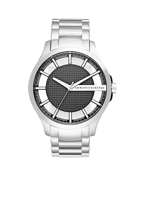 Armani Exchange AX Mens Hampton Three-Hand Stainless Steel